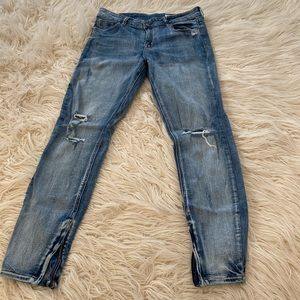 Pistola Jeans with zipper on bottom